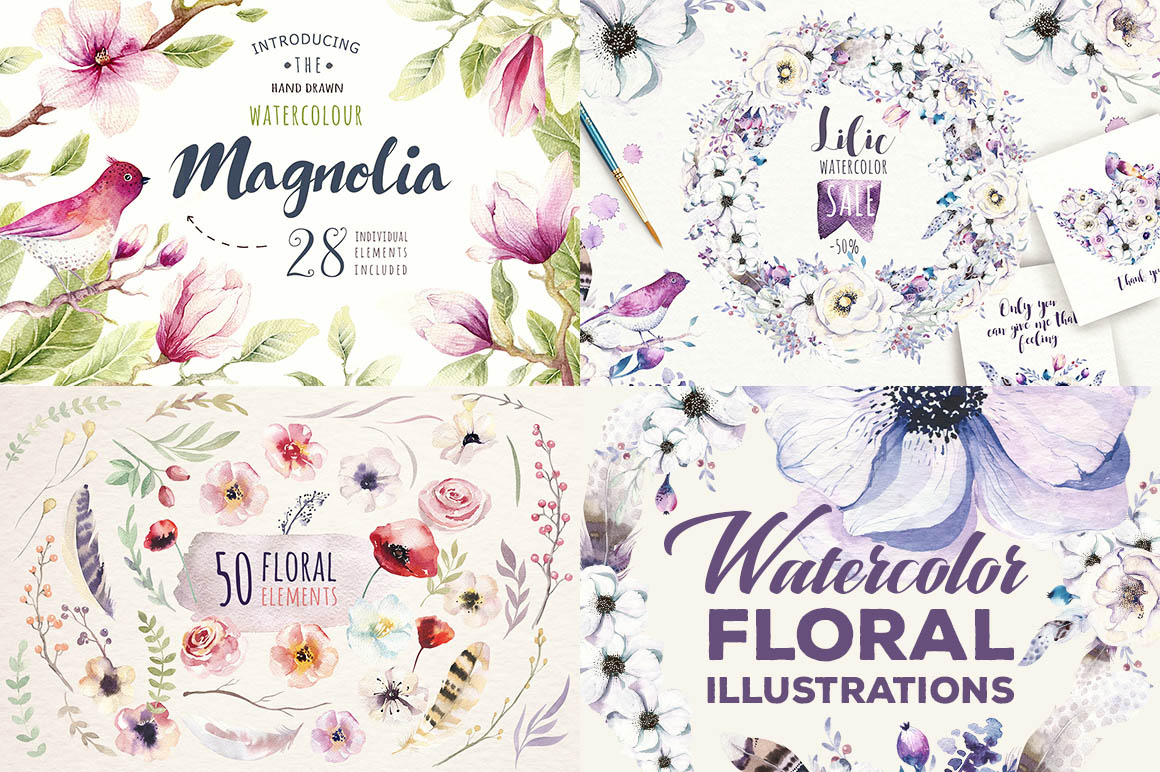 WatercolorFloralIllustrations