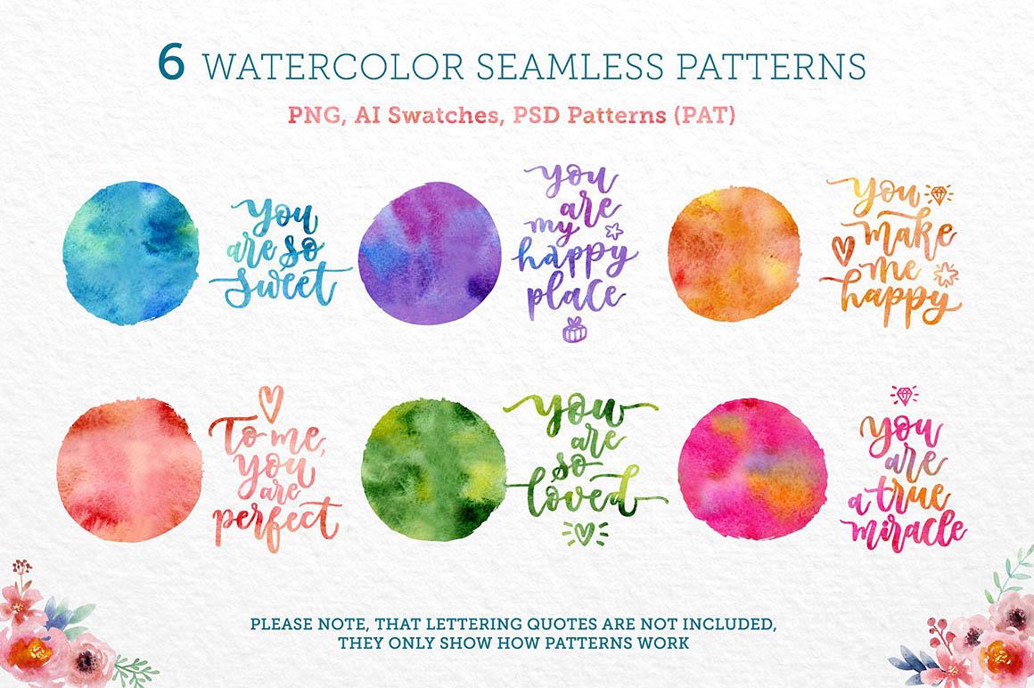 WatercolorSeamlessPatterns1