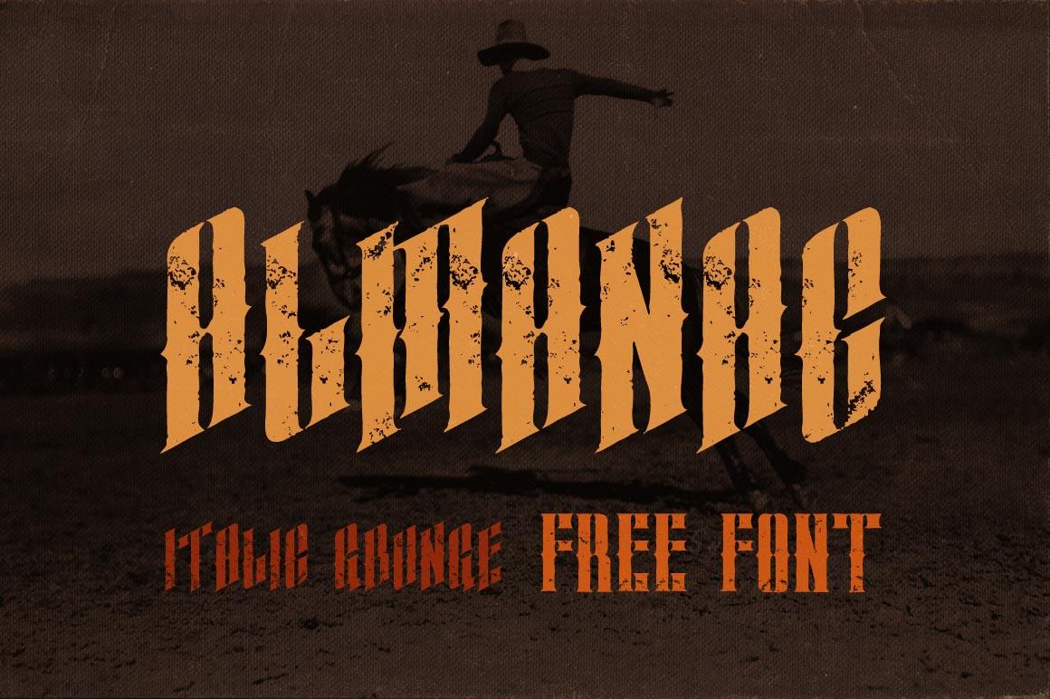 almanac italic grunge