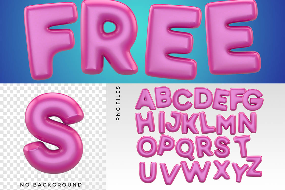 baloon3Dtypeface1