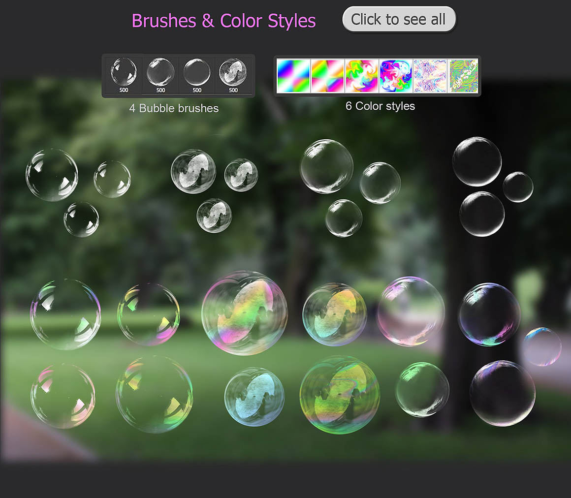 bubbles overlays brushes4