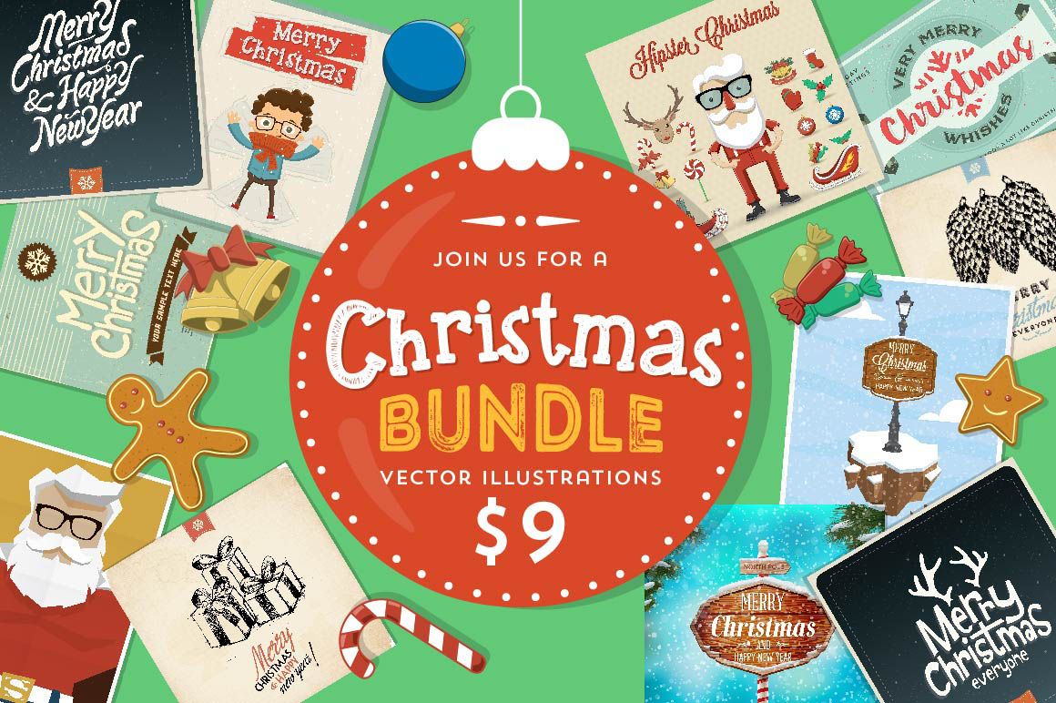Christmas Bundle – 100 Vector Illustrations