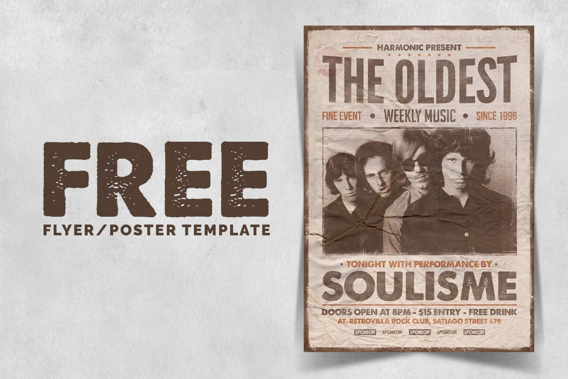 Free Vintage Poster Template - Dealjumbo.com — Discounted design ...