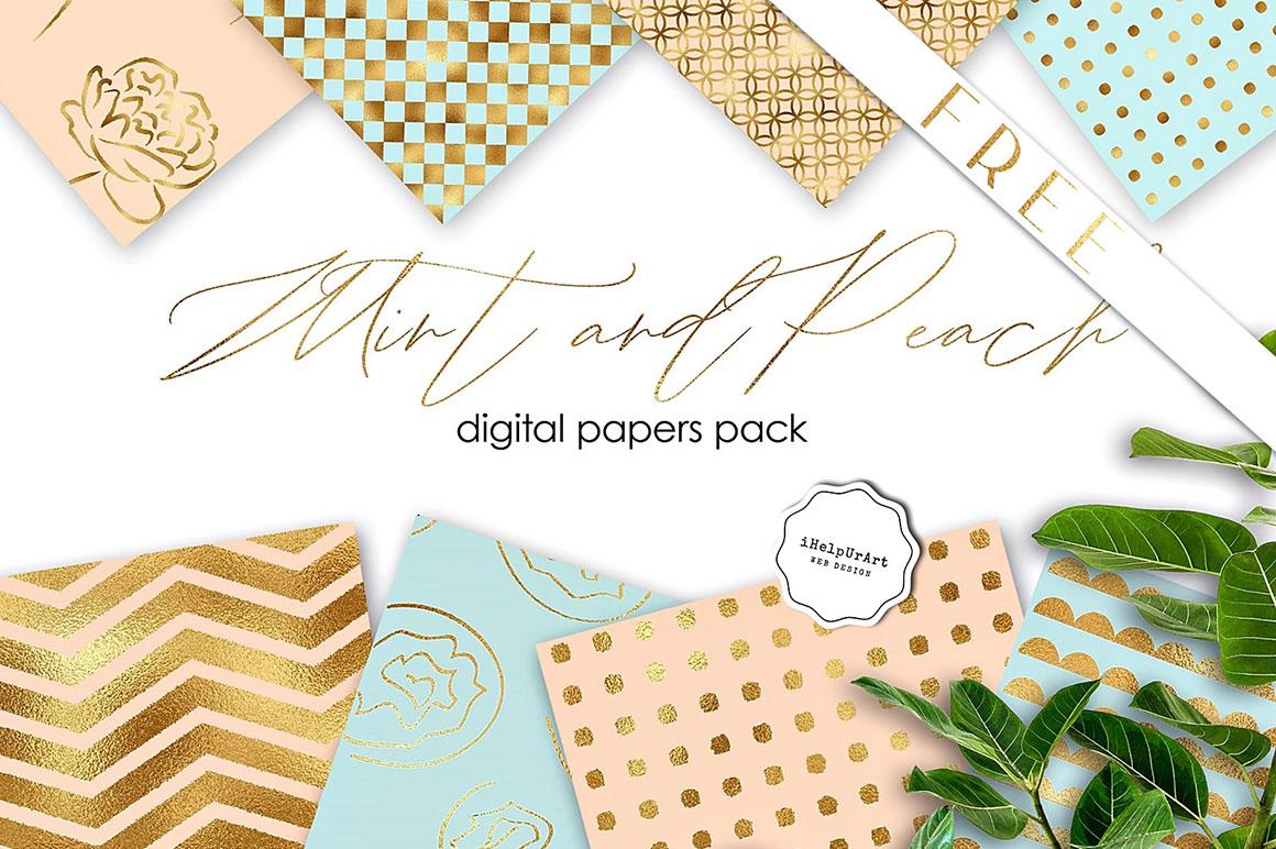 mint peach free backgrounds dealjumbo com discounted design
