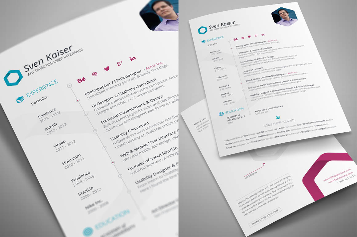Free Indesign Resume Template Dealjumbo Com Discounted Design
