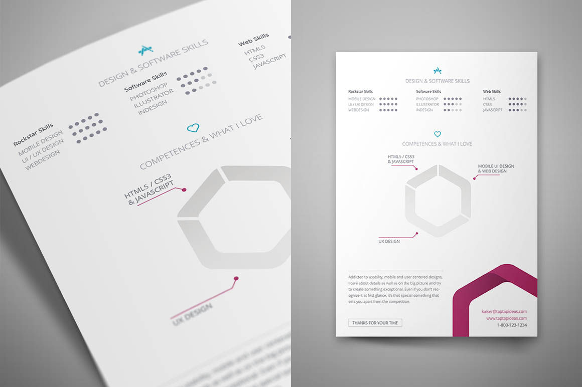 free indesign resume template 3