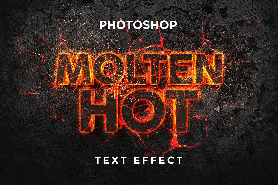 Molten Text Effect - Dealjumbo com — Discounted design