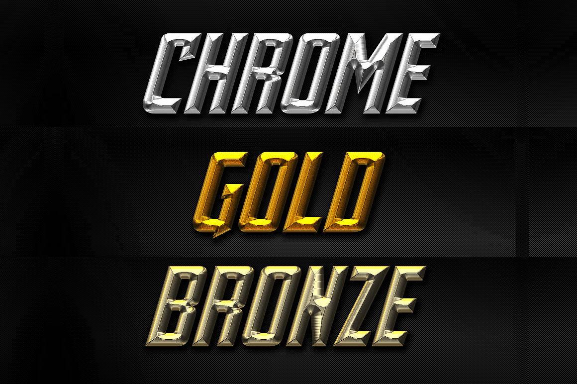 Gold, Bronze & Chrome Text Effects - Dealjumbo com