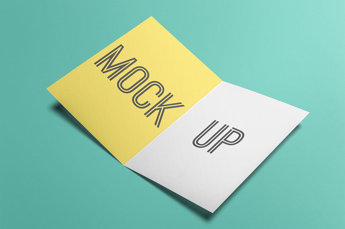 free card or flyer mock-up