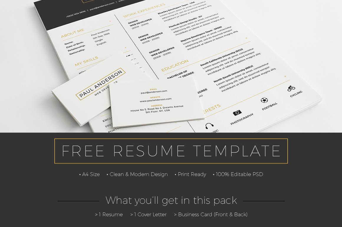 Free Resume Template - Dealjumbo.com — Discounted design bundles ...