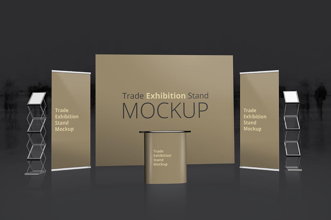 Exhibition Stand Freebies : Trade exhibition stand mockup dealjumbo — discounted