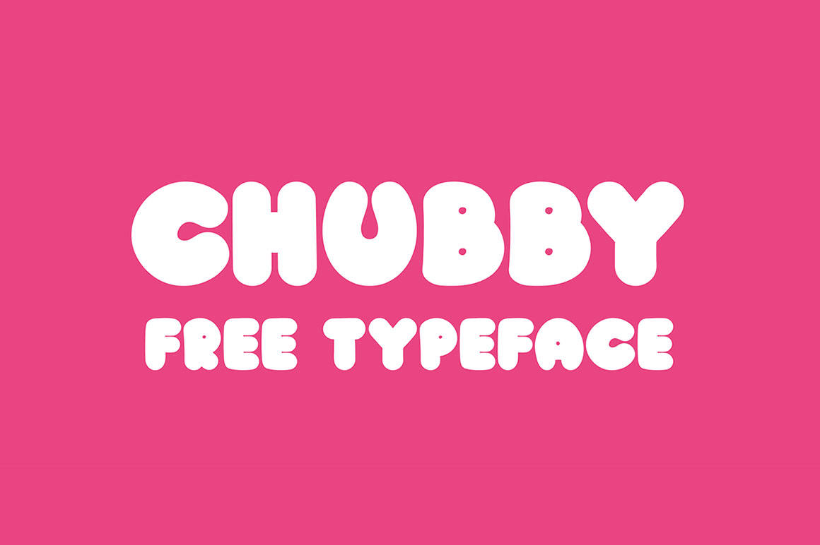 chubby free funny font dealjumbo com discounted design bundles