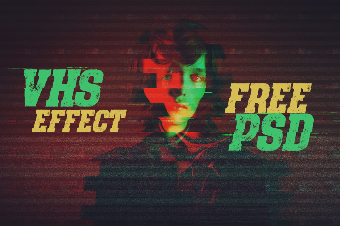 vhs effect psd template dealjumbo com discounted design