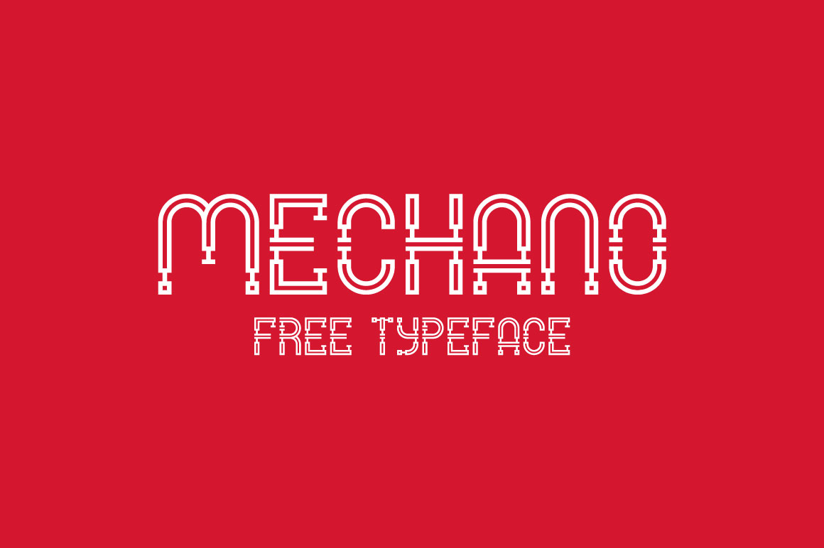 Mechano - Free Industrial Font - Dealjumbo com — Discounted design