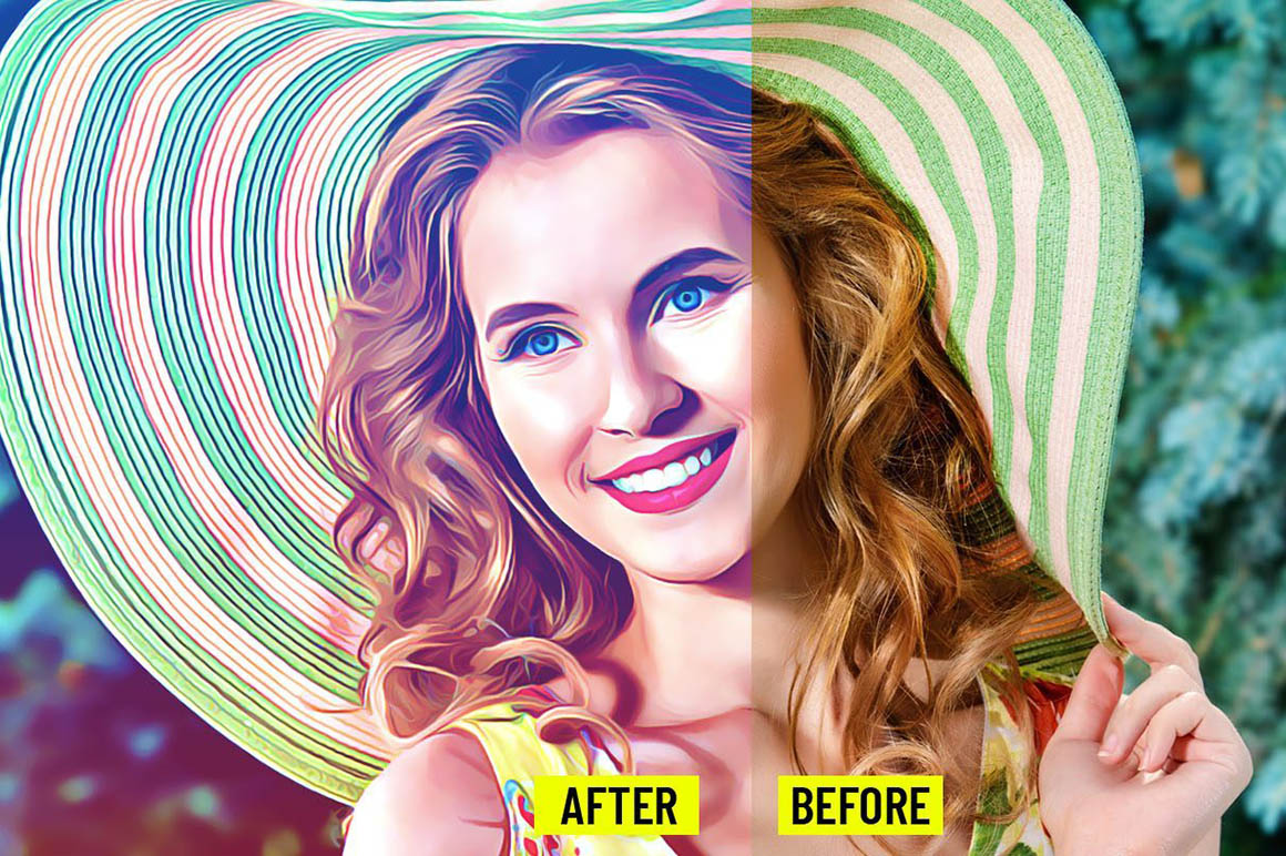 Realistic Painting Free Photoshop Action - Dealjumbo com