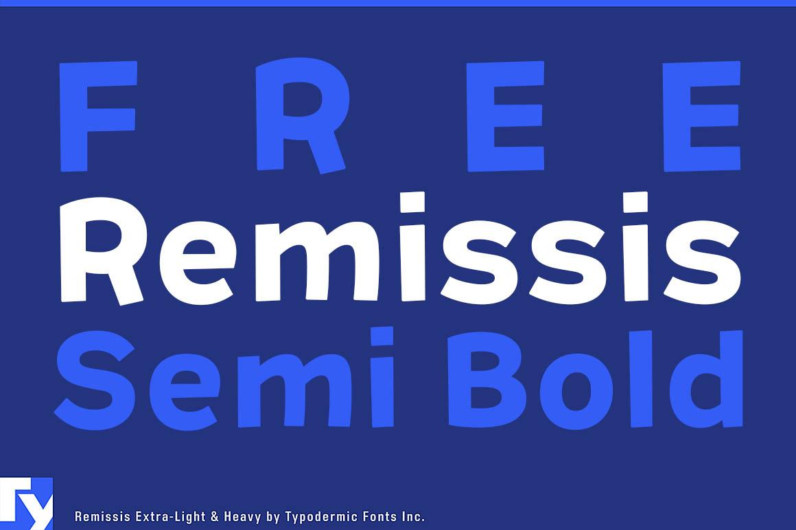 Remissis Semi Bold - Free Font - Dealjumbo com