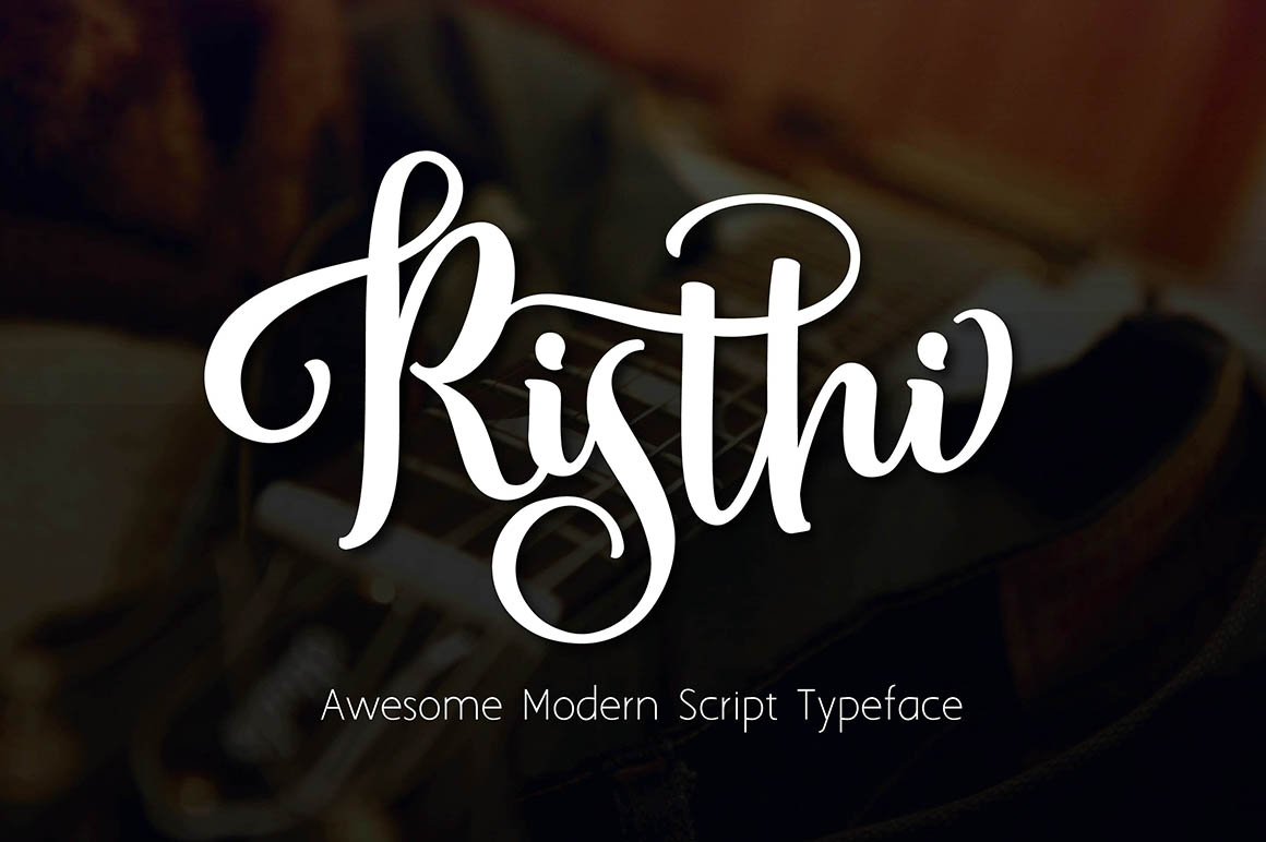 Risthi free script font dealjumbo — discounted