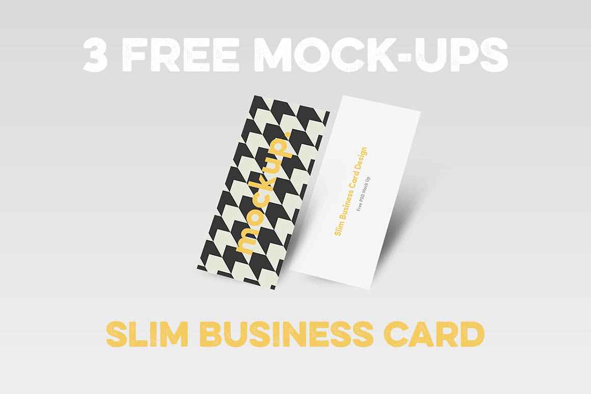 Slim Business Card Mock-ups - Dealjumbo.com — Discounted design ...