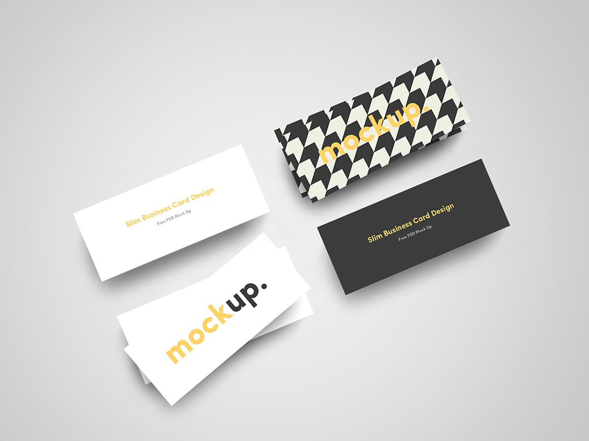 Slim business card mock ups dealjumbo discounted design please check other great artworks and templates from jan alfred barclay here colourmoves