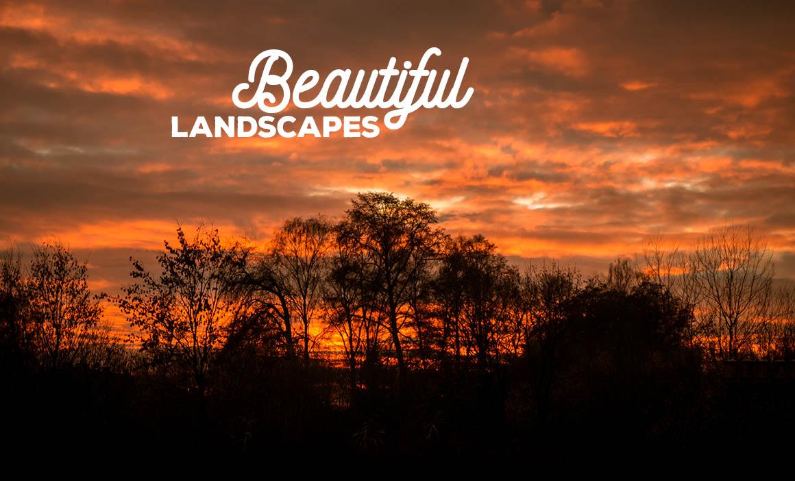 Colorful dramatic sunset