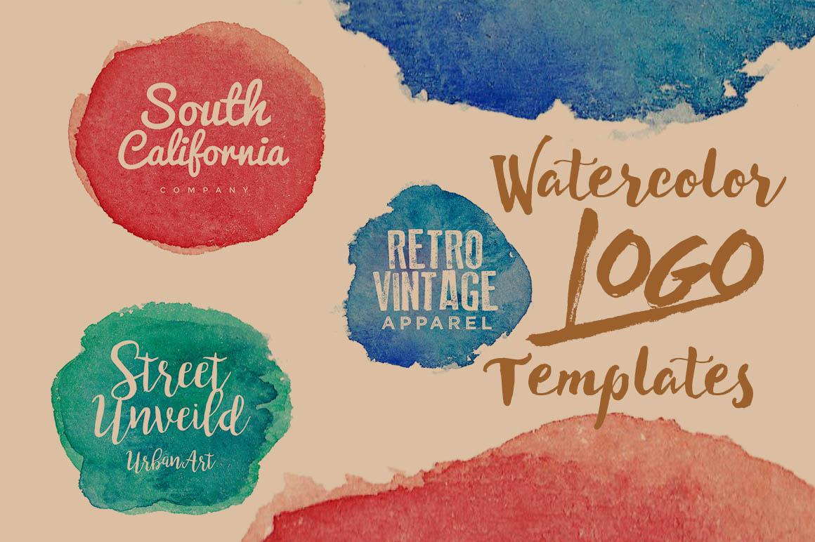 3 Free Watercolor Logo Templates - Dealjumbo.com — Discounted design ...