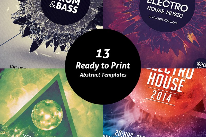 13 Ready to Print Abstract Templates