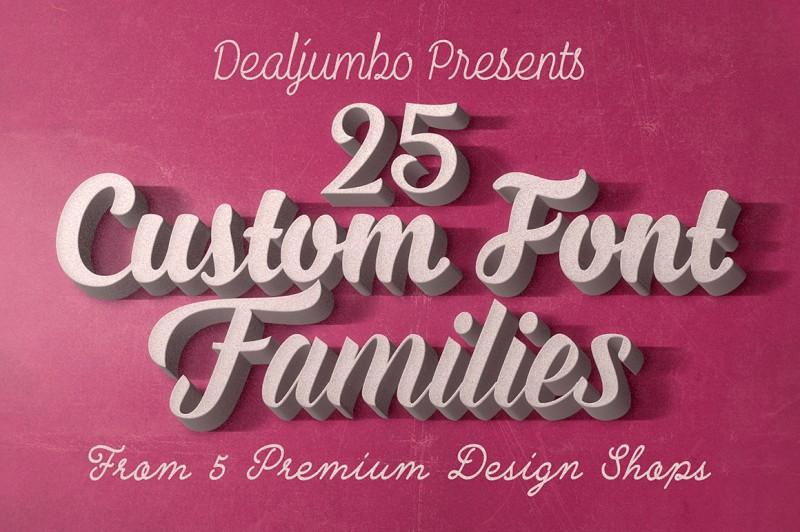 5in1 Mega Bundle v.4: Best Custom Fonts