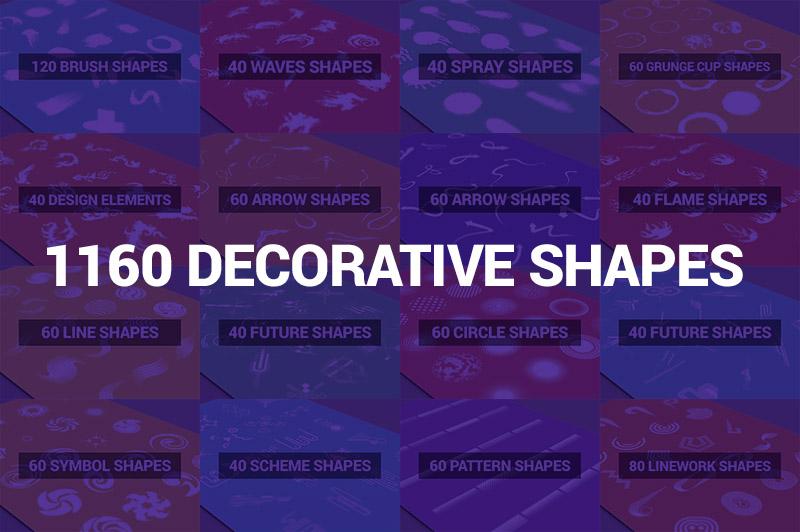 1160 Decorative Shapes