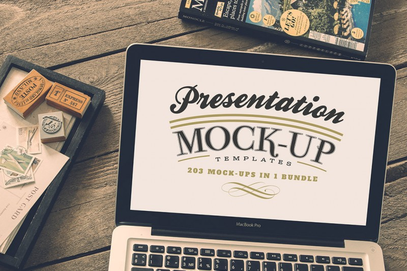 5in1 Mega Bundle v.2: Presentation Mock-up Templates