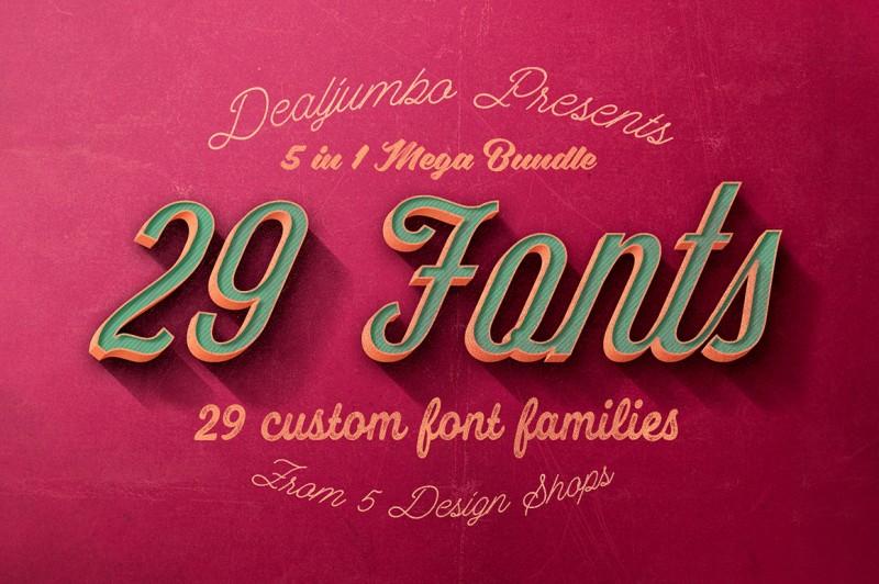 5in1 Mega Bundle v.8: Best Custom Fonts