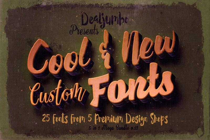 5in1 Mega Bundle v.13: Cool New Fonts