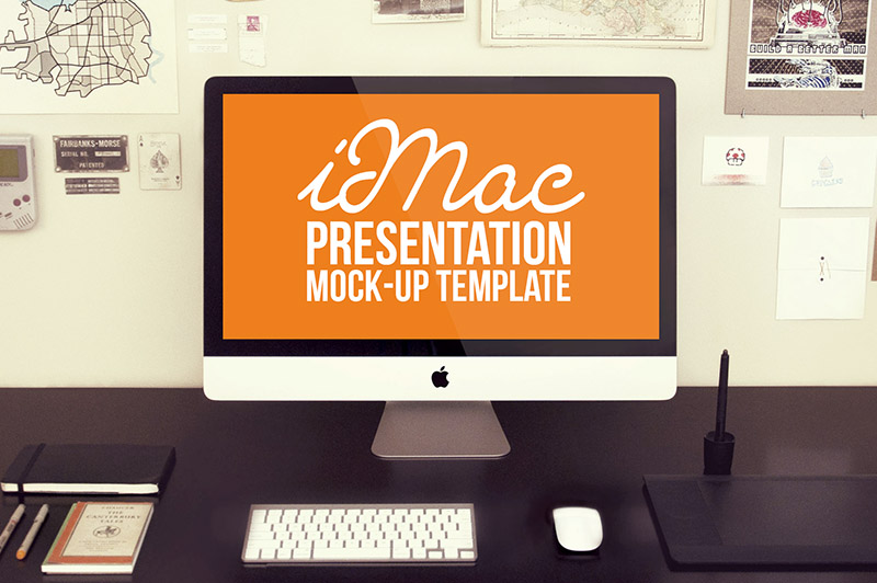Free imac mock up template dealjumbo discounted design free imac mock up template pronofoot35fo Gallery