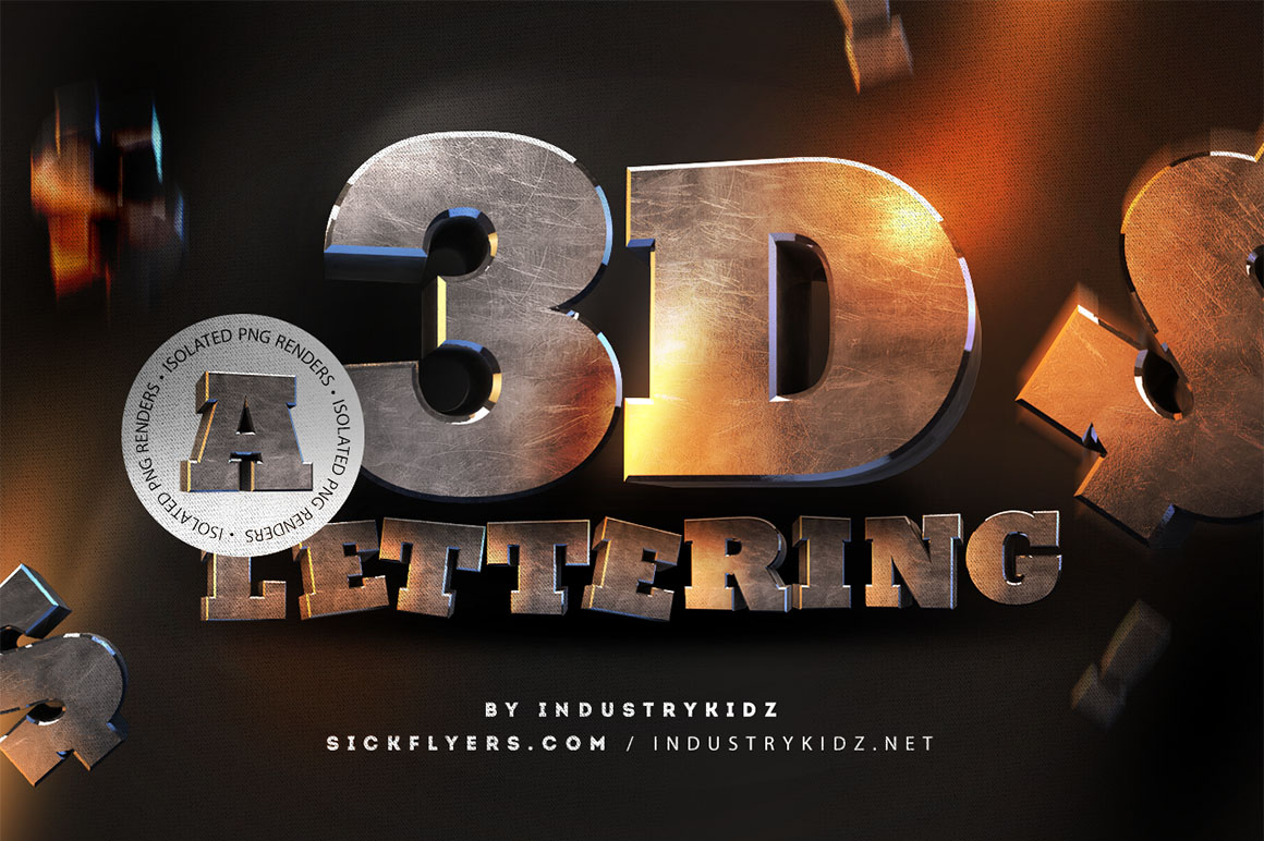 Download 3D Metal Lettering - Free Pack - Dealjumbo.com ...