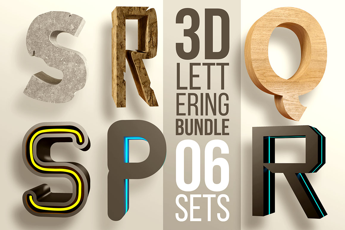 3D Lettering Mega Bundle - Dealjumbo.com — Discounted design ...