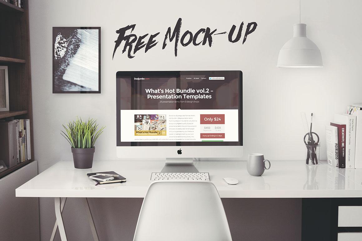 iMac Office Mockup - Free PSD - Dealjumbo.com — Discounted design ...
