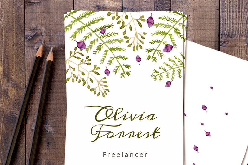 Free floral business card template dealjumbo discounted free floral business card template cheaphphosting Gallery