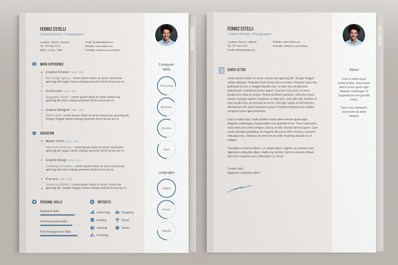 Cv Templates Adobe Illustrator  Free Resume Examples Cv Templates