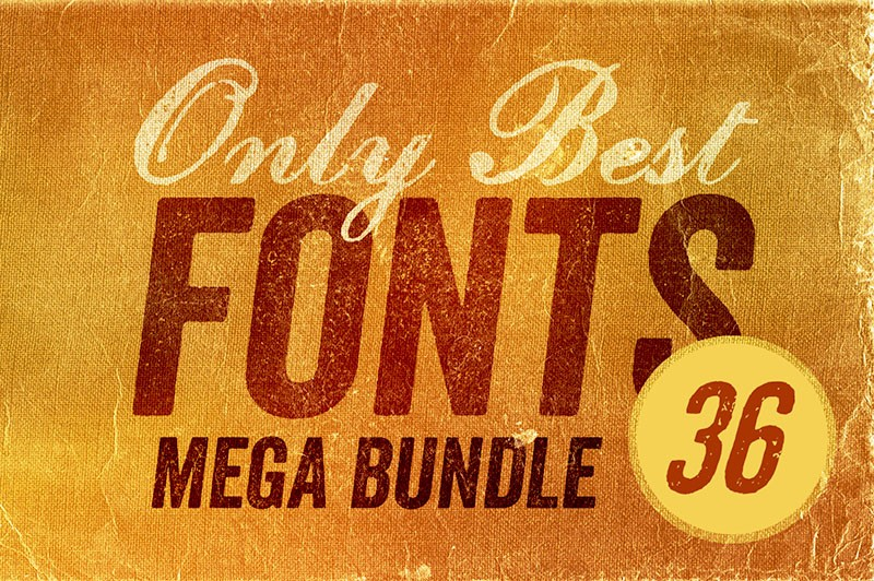 1st Year Anniversary: Only Best Fonts Mega Bundle