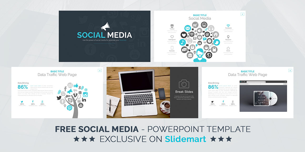 Social media free powerpoint template dealjumbo discounted p2 p3 toneelgroepblik Choice Image