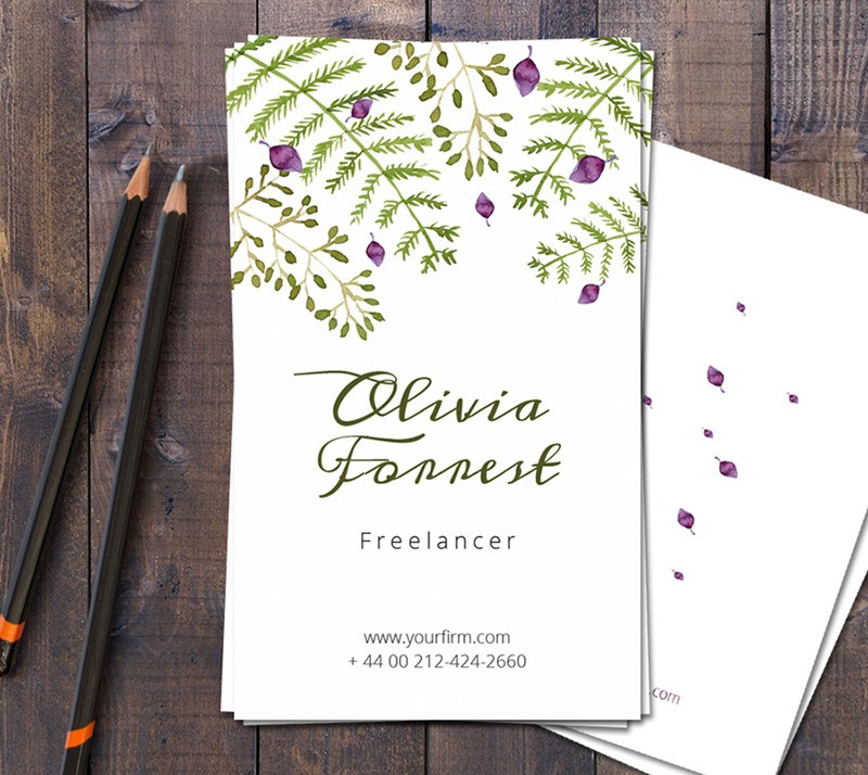 Free Floral Business Card Template - Dealjumbo.com — Discounted ...