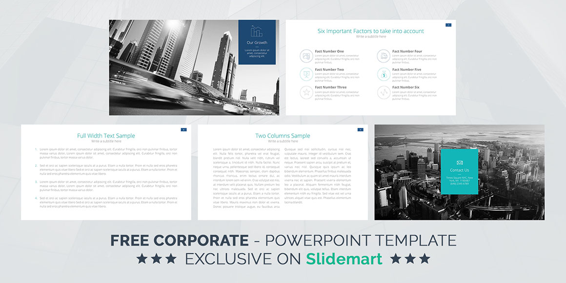 Corporate  Free Powerpoint Template  DealjumboCom  Discounted