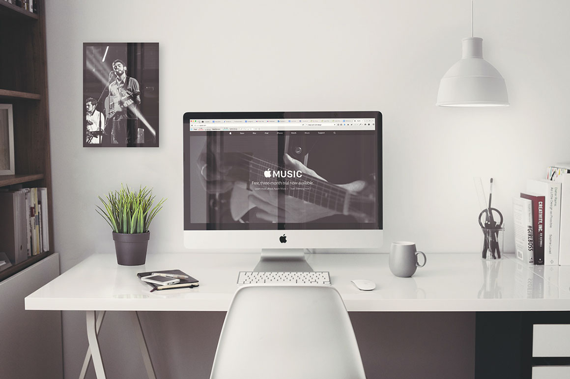 Imac Office Mockup Free Psd Dealjumbo Com Discounted