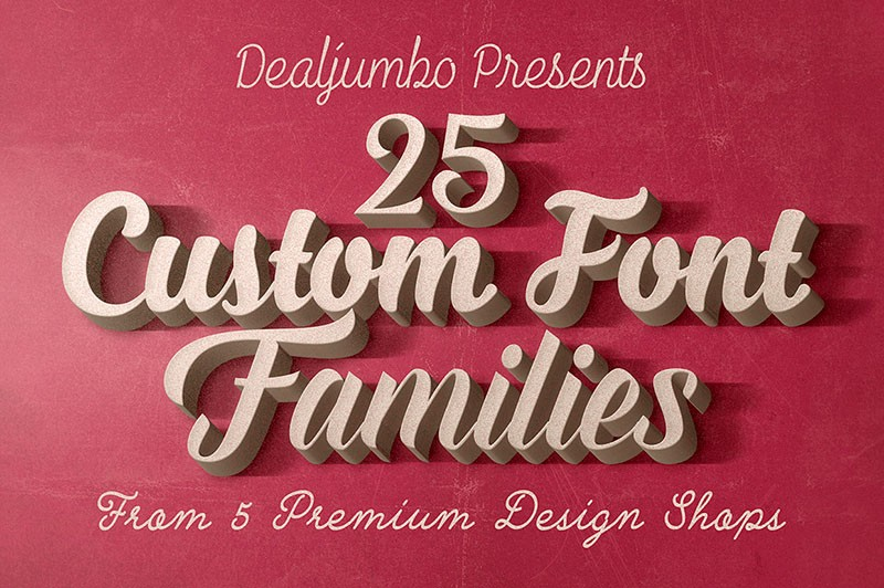 1st Year Anniversary: 5in1 Mega Bundle v.4: Best Custom Fonts