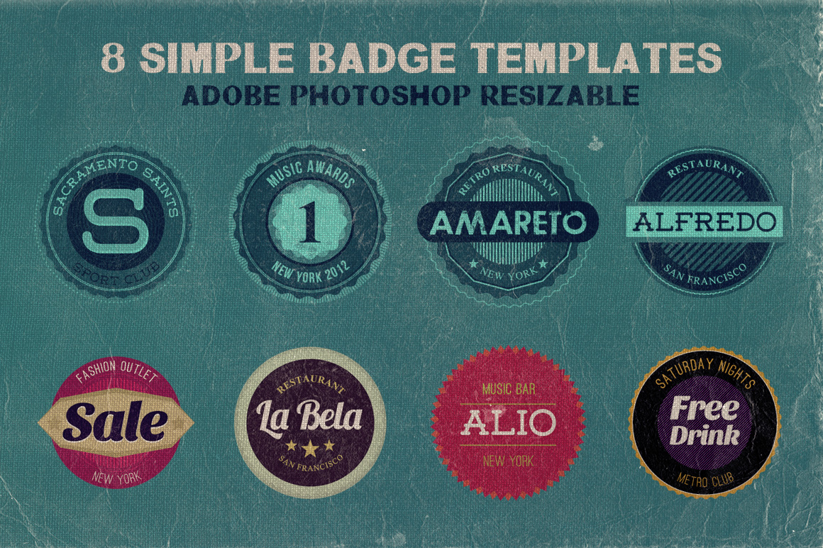 8 simple badge templates dealjumbo com discounted design bundles
