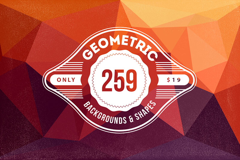 Geometric/Polygon Backgrounds & Shapes