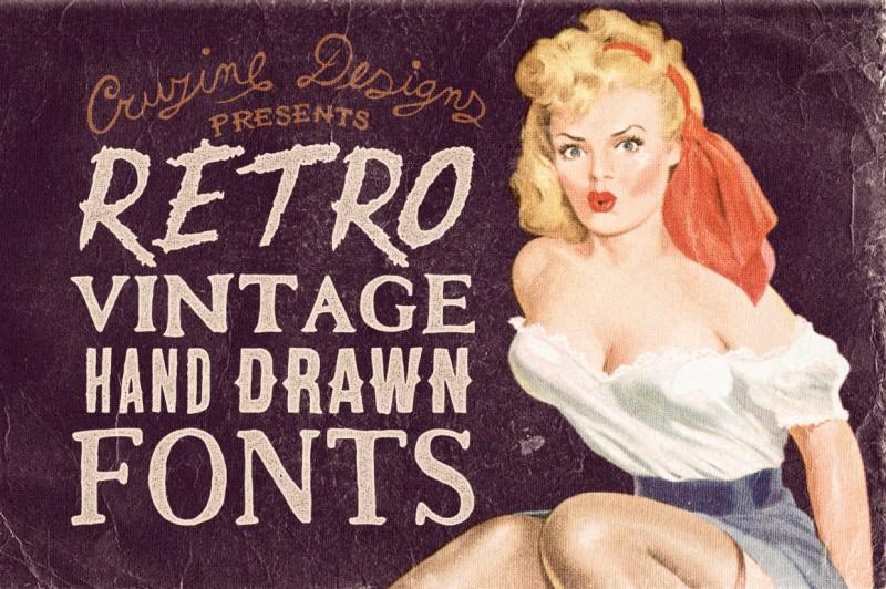 Retro/Vintage Hand Drawn Fonts