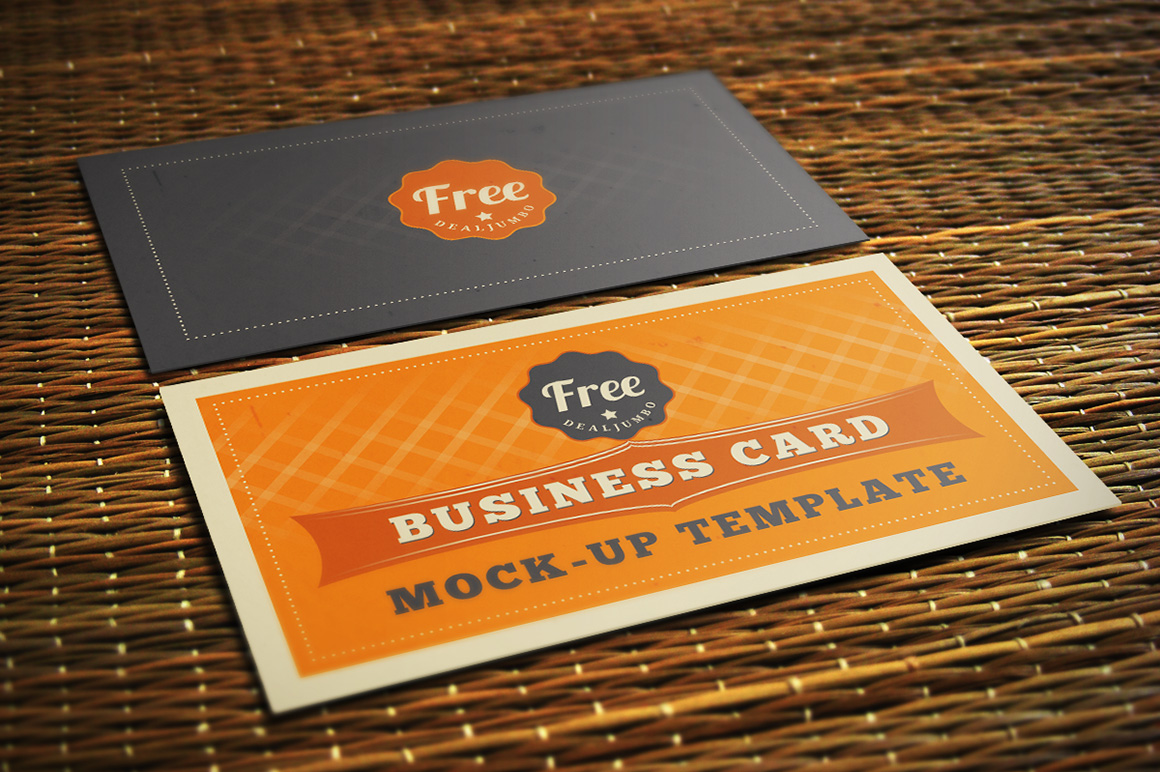 Free Business Card Mock-up Template - Dealjumbo.com — Discounted ...