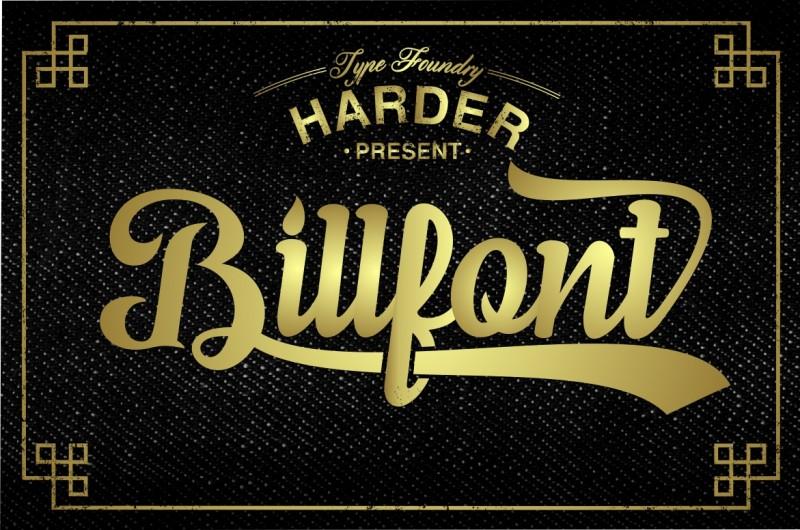 typeface billfold